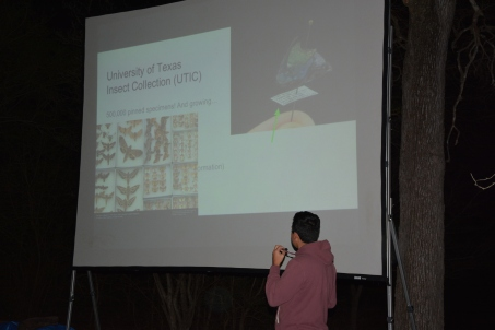 Alejandro Santillana tells us about Insects Unlocked. Photo by Emlyn Resetarits.