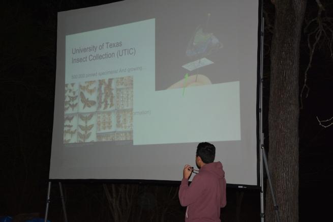 Alejandro Santillana tells us about Insects Unlocked. Photo by Emlyn Resetarits.